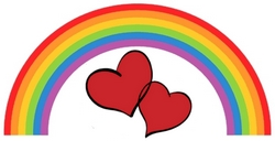 Rainbow and hearts