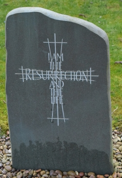 Memorial Stone I am the Resurrection and the Life