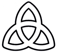 Triquetra Image Black and White Outline