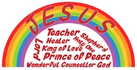 Jesus name rainbow